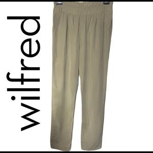 Wilfred (Aritzia) 100% Lyocell olive green ankle trouser size 8